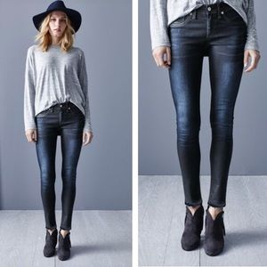 Rag & Bone Skinny Raw Hem Jeans Dearborn Wash 25